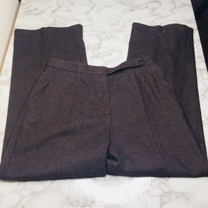 MaxMara brown wool-blend trouser pants